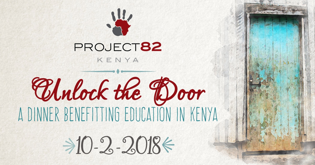 A dinner benefitting education in Kenya