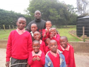 Dan and the children