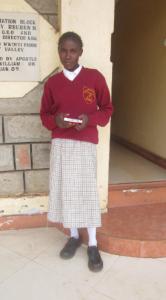 Nancy in her school uniform